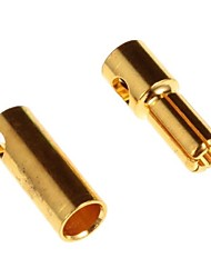 5.5mm Gold Plated Connector Male and Female,Body:Brass,Amps:60-180A (10Pairs)