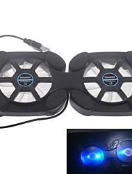 super mini ventilador notebook cooling pad dobrável com luz led