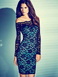 LiShang European Lace Nightclub Dress