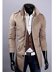 Men's   Casual Splice Slim Collar Coat