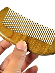 High Quality 12x5.5cm Green Sandalwood Wooden Comb