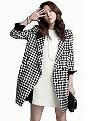 Padrão de xadrez moda equipado coat_20