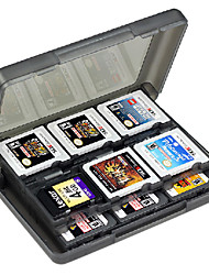 Black Horns 28-In-1 Storage Game Card Cases for 3DS 3DSLL