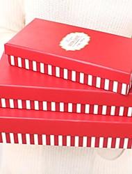 boîte-cadeau rouge cuboïde (ensemble de 3)