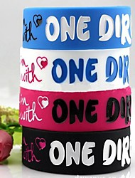lureme®one direction silicone bracelet large (couleur aléatoire)