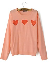 Women's Round Collar Lace Heart Sweet Pullover Sweater