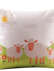 овец на траве хлопка / белье декоративная наволочка