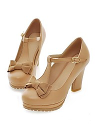 Women's Shoes Round Toe Chunky Heel Platform Pumps Shoes More Colors available