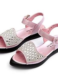 Sandales ( Rose/Blanc ) - Simili Cuir - Escarpin-sandale