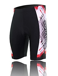 XINTOWN Unisex The High Quality Terylene Breathability Cycling Shorts—Black+White