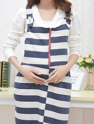 Maternity Lovely Wild Stripe Loose Strap Dress