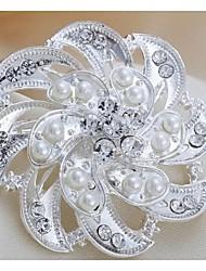 fashion indivíduo liga de prata pérola Euramerican broches de strass mulheres