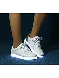 Round Toe Flat Heel Calf Hair Fashion Sneakers with Coloured Lamp Men's shoes(More Colors)