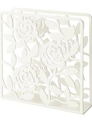 portatovaglioli a forma di fiore in acciaio bianco 17x17x4cm
