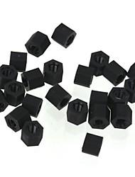 zndiy-bry r203-305 m3 x 5 nylon pilar hexa espaçador plástico torcedor - preto (20 peças)