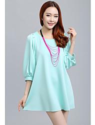 ousixiu nova luz moda vestido azul