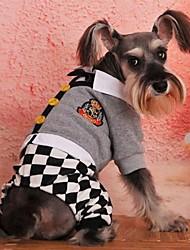 T-shirt für Hunde Grau Winter XS / S / M / L Baumwolle