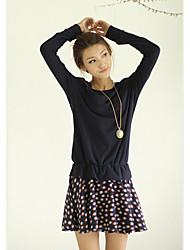 YPY Dark Blue Fashion Casual Dress