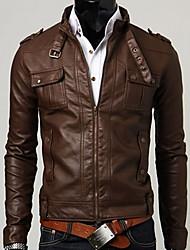 occasionnel équipée shor tfaux veste en cuir des hommes Gezi