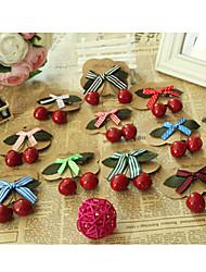 Lovely Cherry Bowknot Duckbill Clip Hair Clip Random Delivery
