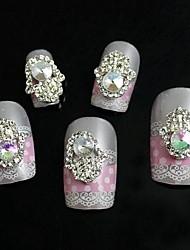 10pcs palma strass com pérola acessórios de liga 3d arte decoração de unhas