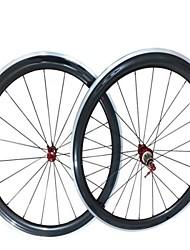 Kayote 700c 60mm pneu aluminium surface de freinage de roues de carbone