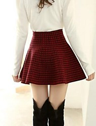 Women's Green/Red/White Skirts , Sexy/Bodycon/Casual/Print/Cute Above Knee