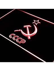 j323 cccp URSS do russo neon logotipo comunista sinal de luz