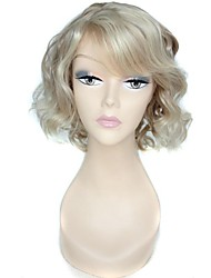 Capless High Quality Short Curly Synthetic Side Bang Wig
