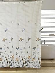 shell repelente de agua de la ducha de poliéster cortina