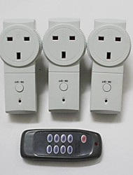 TS-868 UK3+1Wireless UK Plug-in Mains Socket with Remote Control Switch Set 230V