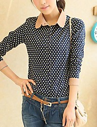 Women's Fashion All-match Lapel Slim Shirts