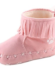 Snow Boots Flat Heel Cotton Boots with Bowknot Girls Flats