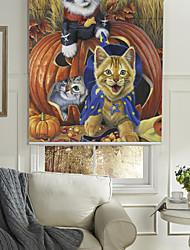 moderno stile di pittura a olio gatti pirati rullo ombra