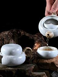 modello cinese di crackle porcellana bianca tè insieme, 1 pc teiera, 1 pc tazza di tè