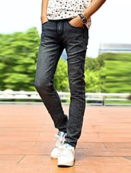Men's 2014 New Fashion Mid-rise Zipper Fly Skinny Long Pencil Jeans