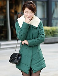 Women's Turndown Thicken Midi Cotton Wadded Coat