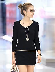vestido nuevo mantien coreano delgado delgado (negro)