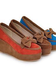 Damenschuhe Wedges Keilabsatz Pumps mit bowknot Schuhe mehr Farben erhältlich