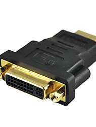 Hight Speed DVI Female to HDMI Male Black Adapters for TV Computer