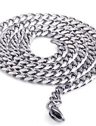 Per uomo Collane a catena Collana Gioielli Acciaio inossidabile Rock Stile semplice Di tendenza Argento Gioielli Per Regali di Natale1