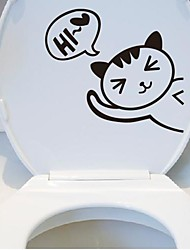 Cartoon The kitten Toilet Posted Toilet Sticker
