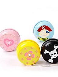 juguete clásico yo-yo de madera imagen diversa (1pcs color al azar)