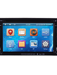 "6.2 ""carro dvd player tela LCD touch 2 din no traço com 3G, GPS, bluetooth, ipod, rds, atv"