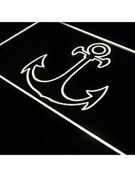 J296 âncora sinal logotipo exibição bar pub luz neon