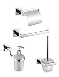 Contemporary Mirror Polished Finish Stainless Steel Material Bathroom Accessory Sets