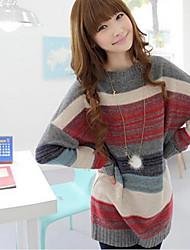 Women's Stripe Sweet Knitting A Sweater