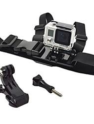 TOZ Gopro Front Chest Elastic Belt Shoulder Strap with J-hook Bracket and Screw for Youngster Apparel - Black