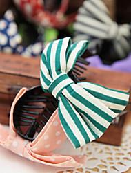 Korean Fashion Striped Fabric Dot Ponytail Clip Bow Hair Accessories Headdress Banana Clip Random Delivery