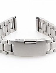 Unisex's Steel Watch Band Strap 170MMx18MMx3MM(Silver)